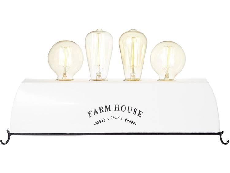 Tafellamp LED E27 120 W Energielabel: Afh. van lamp (A++ E) Brilliant Farm Life 93785-05 Wit