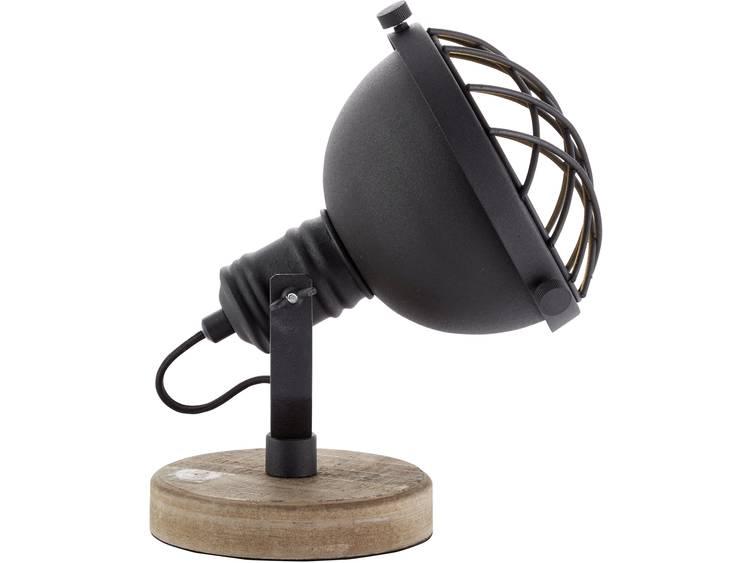 Brilliant tafellamp Mila zwart-naturel Leen Bakker