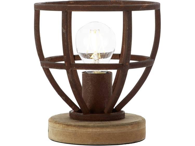 Brilliant tafellamp Matrix XS roest 40W