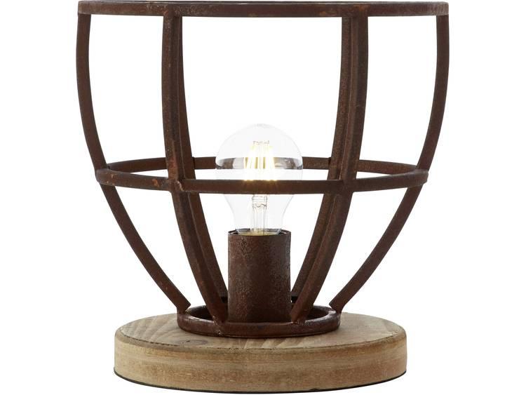 Brilliant tafellamp Matrix XL roest 60W