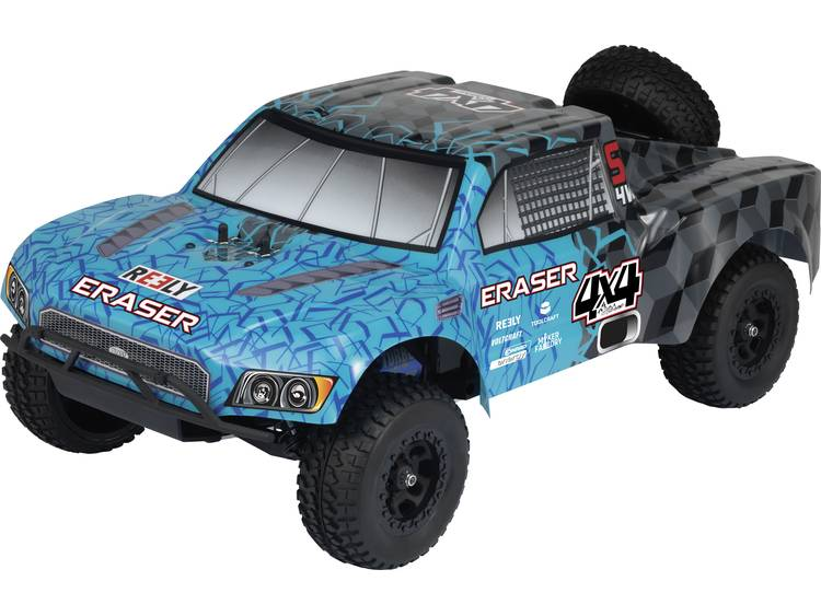 Reely Eraser 1:10 Brushless RC auto Elektro Short Course 4WD 100% RTR 2,4 GHz Incl. accu, oplader en