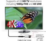 Club 3D HDMI 1.4 naar DisplayPort 1.1 4K/2K bij 30 Hz actieve adapter