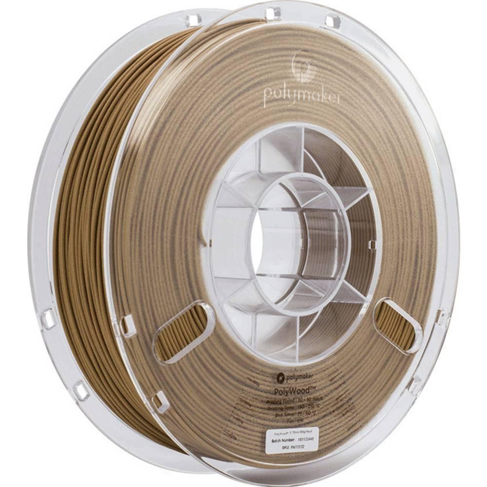 Polymaker 33491 Polywood PolyWood 3D-skrivare Filament PLA-plast 2.85 mm 600 g Brun 1 st