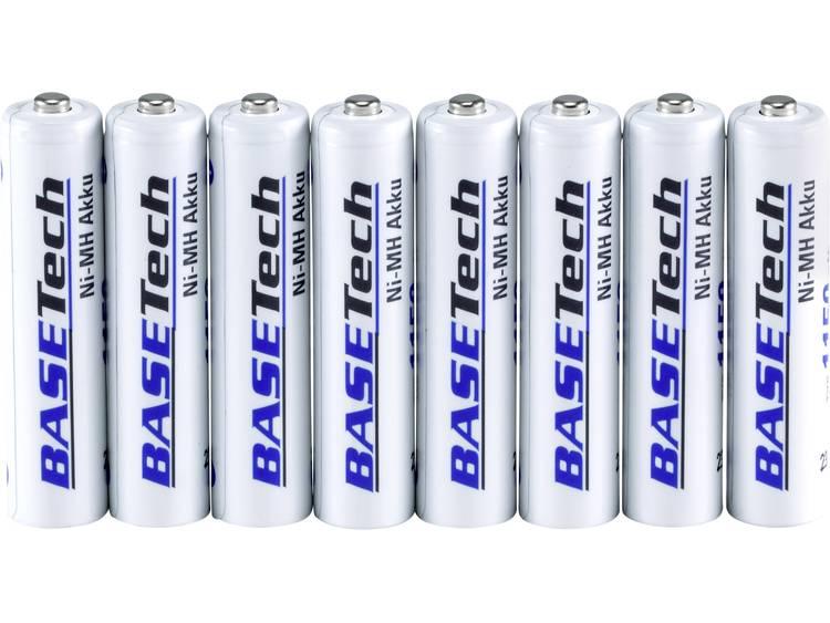 Oplaadbare AAA batterij (potlood) Basetech NiMH 1100 mAh 1.2 V 8 stuk(s)