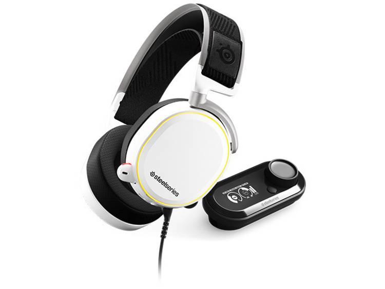 Steelseries ARCTIS PRO+ GAME DAC Gaming headset USB, 3.5 mm jackplug Kabelgebonden Over Ear Wit, Zwart