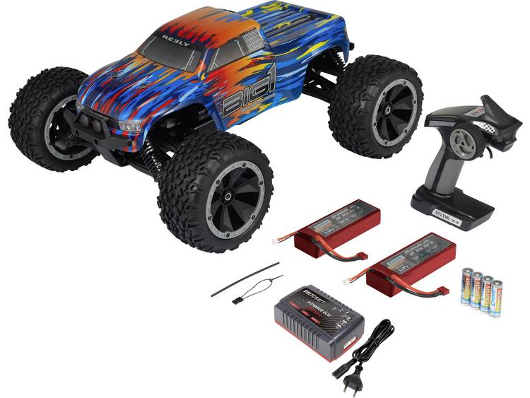 Reely BIG1 1:8 Brushless RC auto Elektro Monstertruck 4WD RTR 2,4 GHz Incl. accu, oplader en batteri