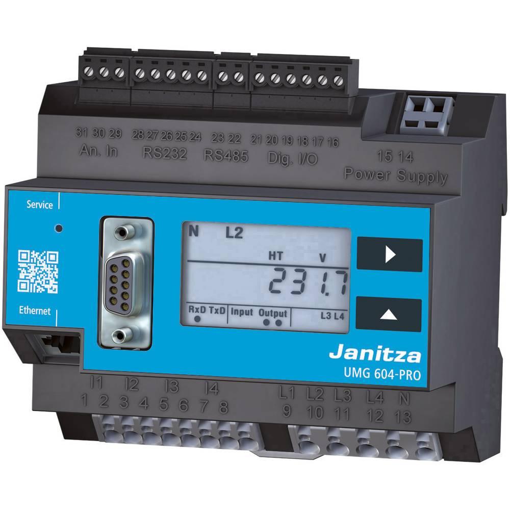 Janitza UMG 604-PRO 230V Spänningskvalitetsanalysator Spänningskvalitetsanalysator UMG 604-PRO