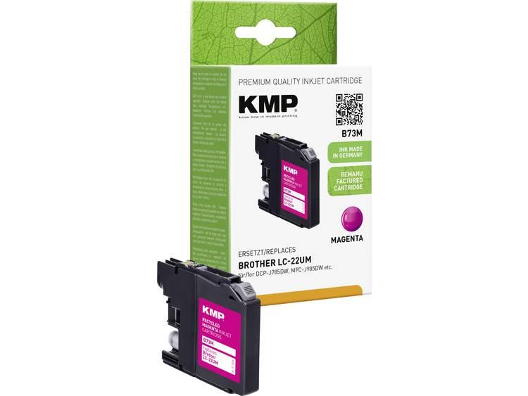 KMP Inkt vervangt Brother LC-22UM Compatibel Magenta B73M 1536,4006