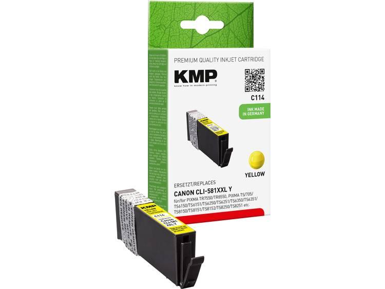 KMP Inkt vervangt Canon CLI 581Y XXL Compatibel Geel C114 15780209