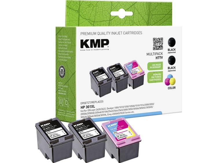 KMP Inkt vervangt HP 301XL Compatibel Zwart Cyaan Magenta Geel H77V 17194055