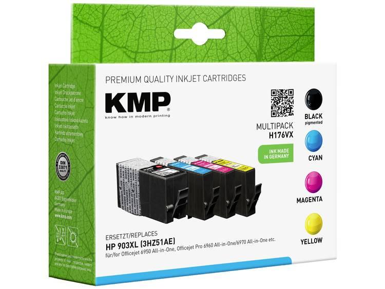 KMP Inkt vervangt HP 903XL Compatibel Combipack Zwart Cyaan Magenta Geel H176