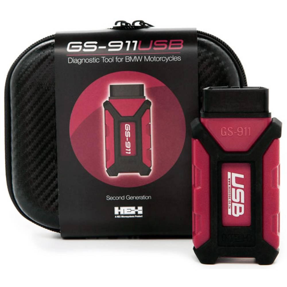 HEX Diagnosverktyg för motorcykel OBD2 GS-911 USB Hobby 80216 Passar till: BMW 10 fordon 1 st