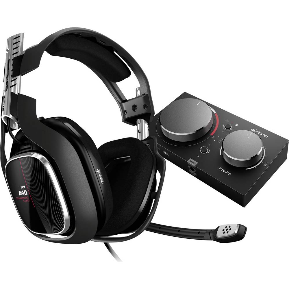 Astro Gaming A40 TR + MixAmp Pro Gaming-headset 3,5 mm teleplugg, USB Sladd Over Ear Svart, Röd