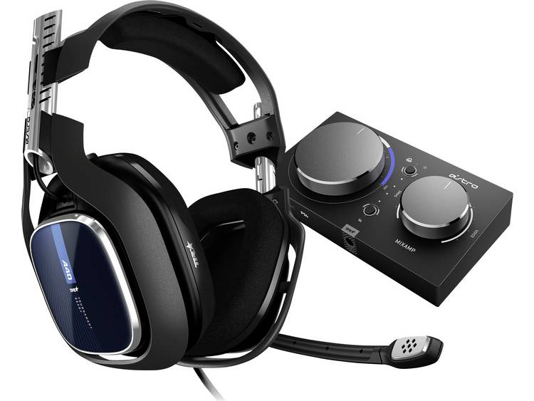 Astro Gaming A40 TR + MixAmp Pro Gaming headset 3.5 mm jackplug, USB Kabelgebonden Over Ear Zwart, Blauw