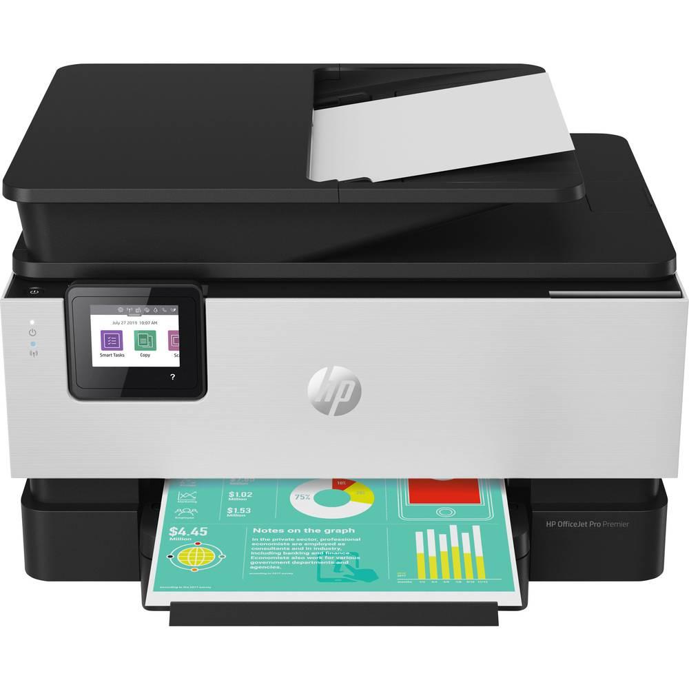 HP Officejet Pro 9019 All-in-One Premium Aluminium Färg bläckstrålemultifunktionsskrivare A4 Skrivare, skanner, kopiator, fax LAN, WiFi, Duplex, Duplex-ADF
