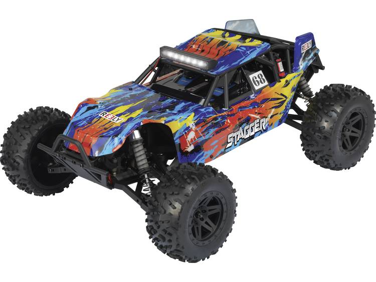 Reely Stagger 1:10 Brushed RC auto Elektro Buggy 4WD 100% RTR 2,4 GHz Incl. accu, oplader en batteri