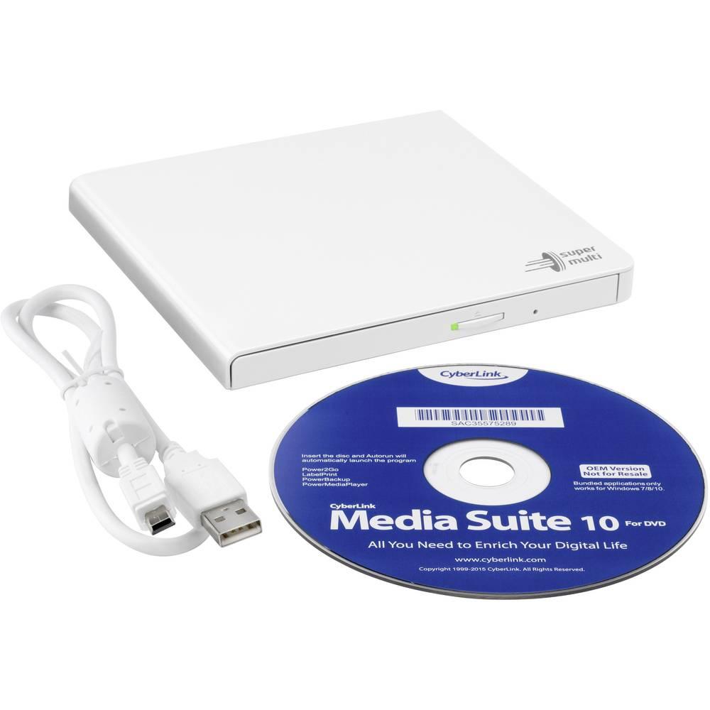 Hitachi-LG GP57EB40 Externe DVD-CD Speler en Brander Wit