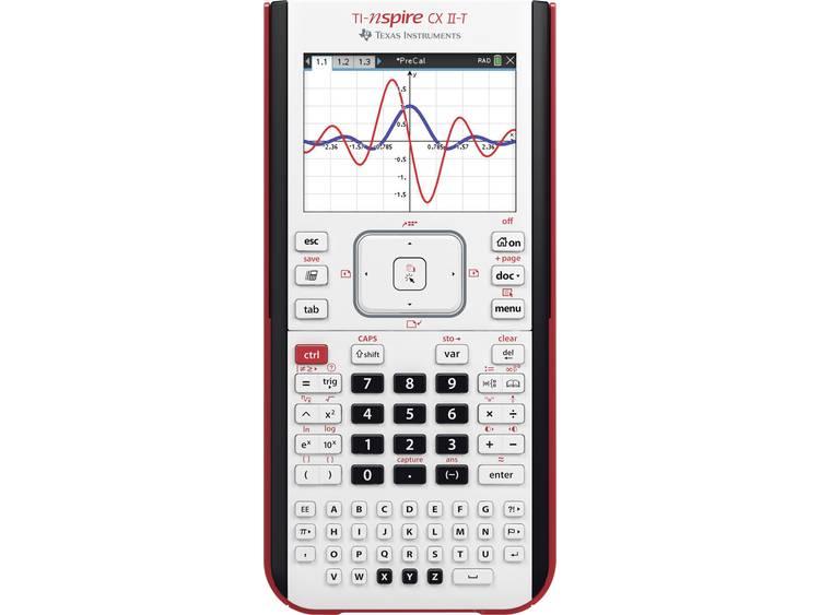 Grafische rekenmachine Texas Instruments TI-NSpire⢠CX II-T Zwart werkt op een accu