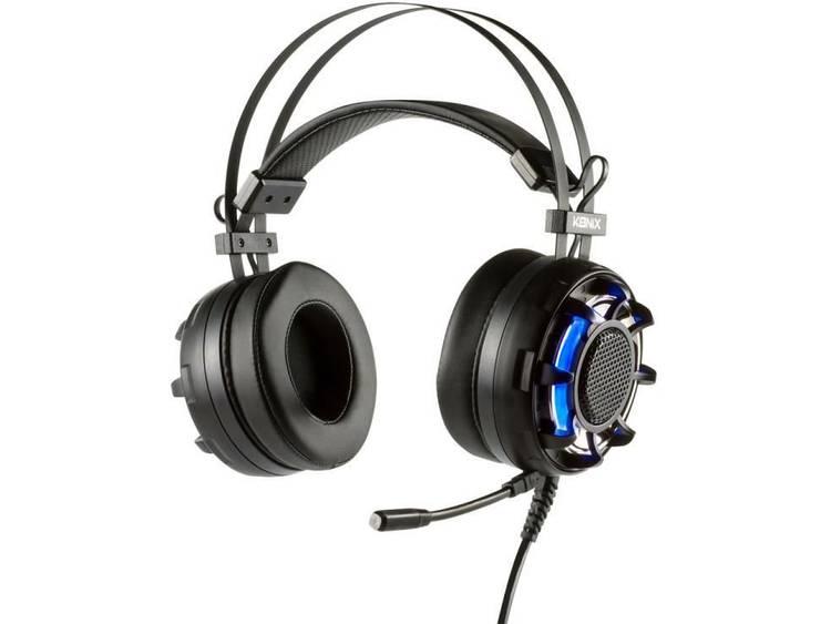 Konix PS-U800 Gaming headset USB Kabelgebonden Over Ear Zwart, Blauw kopen