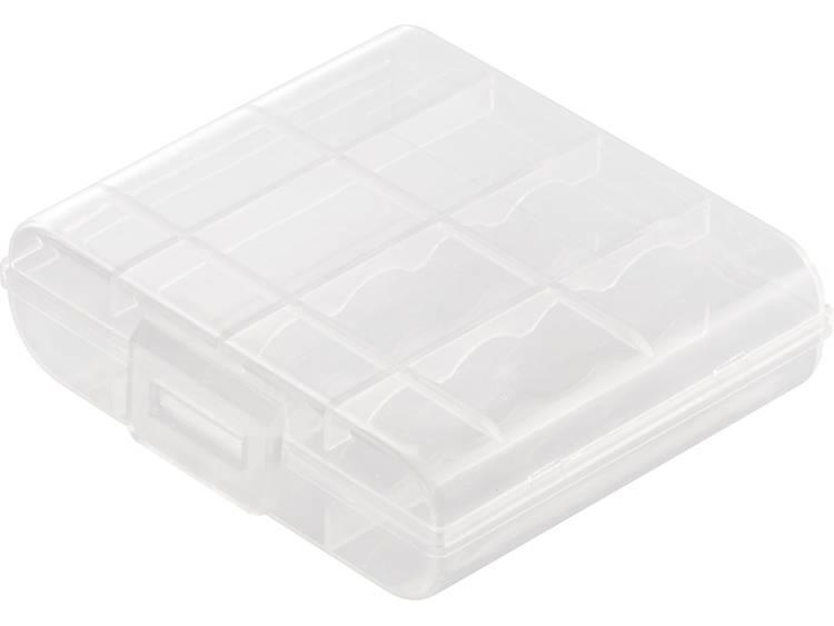 Basetech BT-Box-009 Batterijbox Aantal cellen: 4 AA (penlite), 14500 (l x b x h) 53.5 x 63 x 17.8 mm