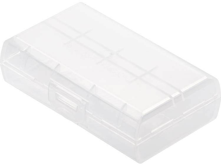 Basetech BT-Box-019 Batterijbox Aantal cellen: 2 18650, 16340 (l x b x h) 72.2 x 44.6 x 22.2 mm