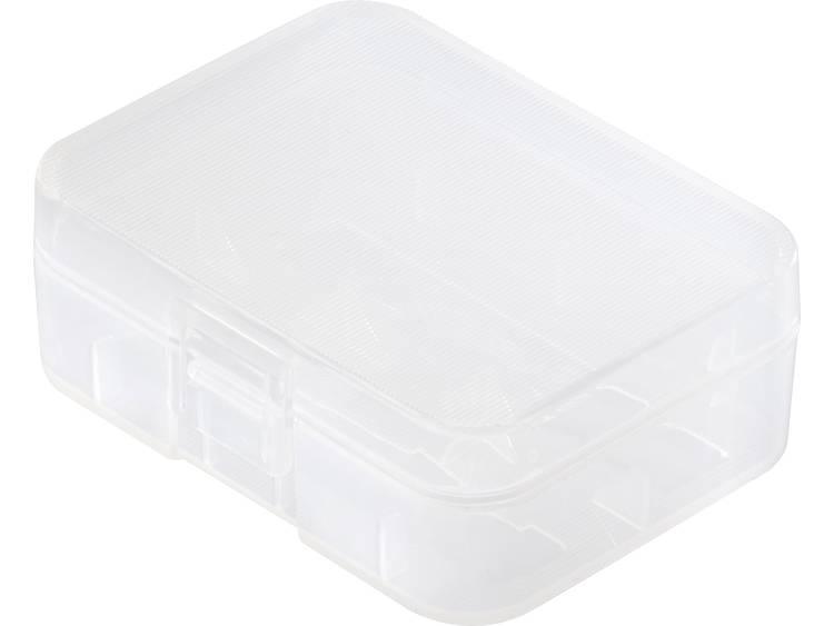Basetech BT-Box-023 Batterijbox Aantal cellen: 2 18500 (l x b x h) 60 x 43 x 20 mm