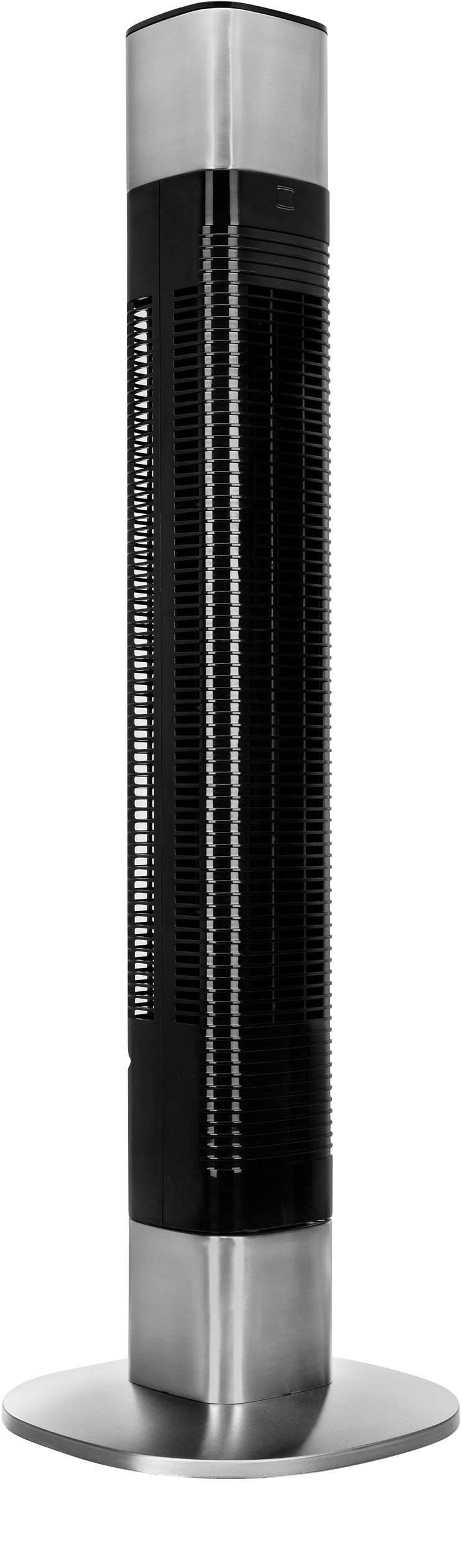 Conrad-Princess  Torenventilator 50 W (l x b x h) 14.7 x 29.5 x 103 cm Zwart, Zilver-aanbieding