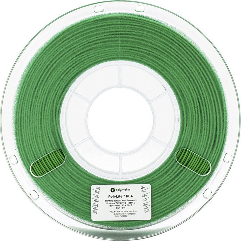 Polymaker 70545 3D-skrivare Filament PLA-plast 1.75 mm 1 kg Grön PolyLite 1 st