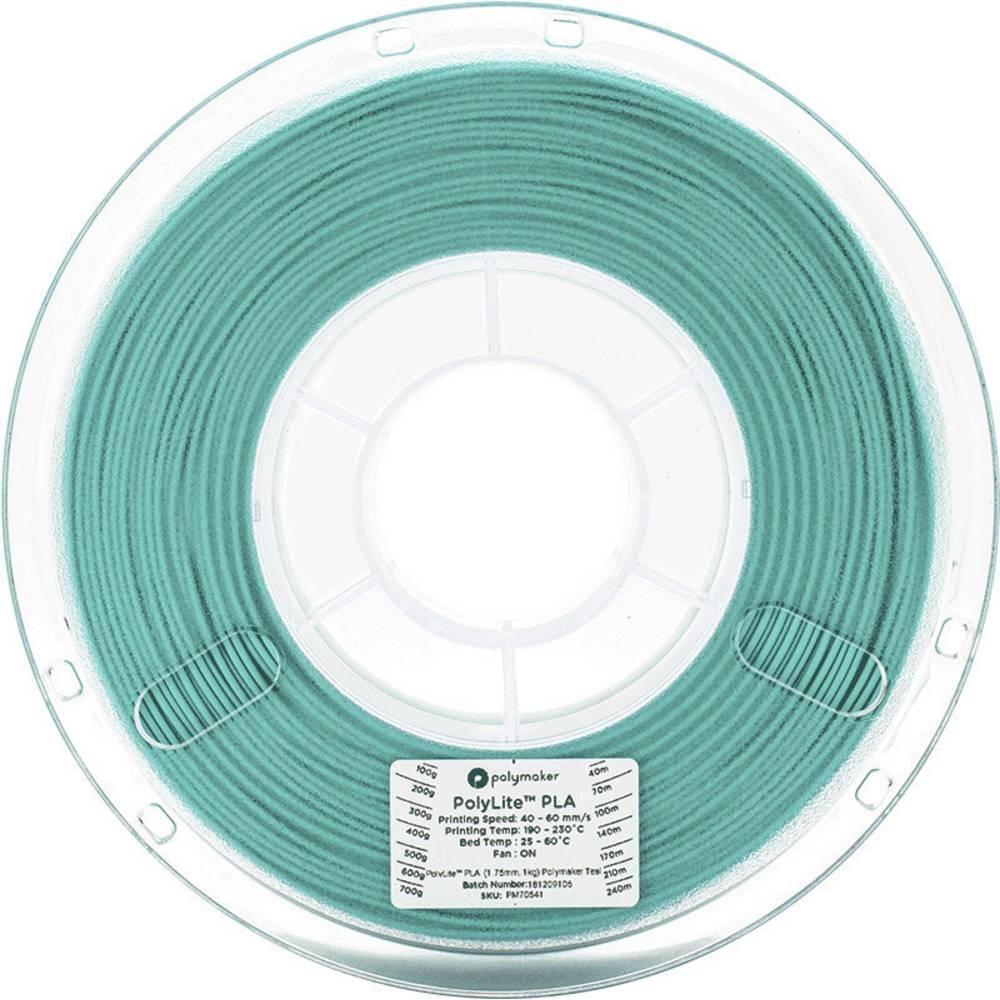 Polymaker 70541 3D-skrivare Filament PLA-plast 1.75 mm 1 kg Blågrön PolyLite 1 st