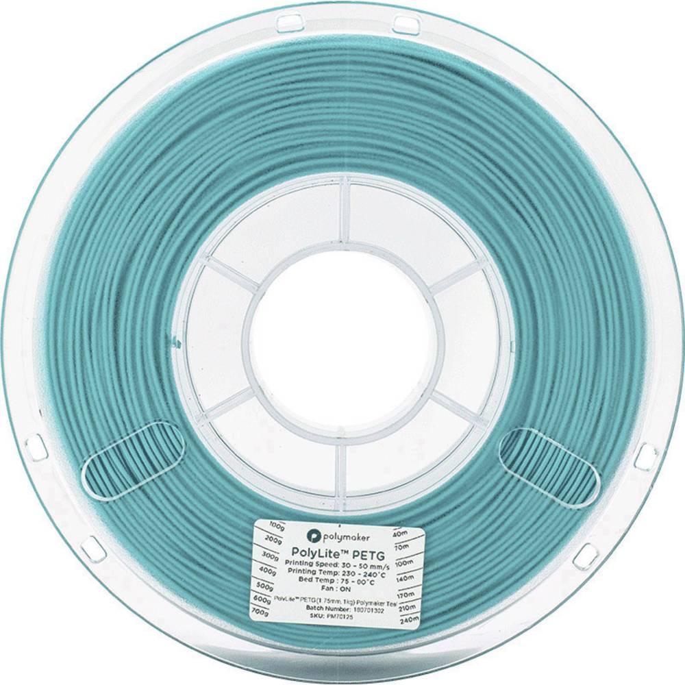 Polymaker 70130 3D-skrivare Filament PETG 2.85 mm 1 kg Blågrön PolyLite 1 st