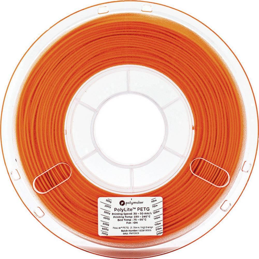 Polymaker 70122 3D-skrivare Filament PETG 2.85 mm 1 kg Orange PolyLite 1 st