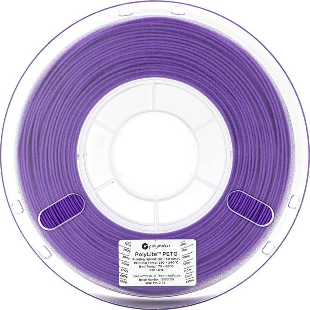Polymaker 70174 3D-skrivare Filament PETG 2.85 mm 1 kg Violett PolyLite 1 st