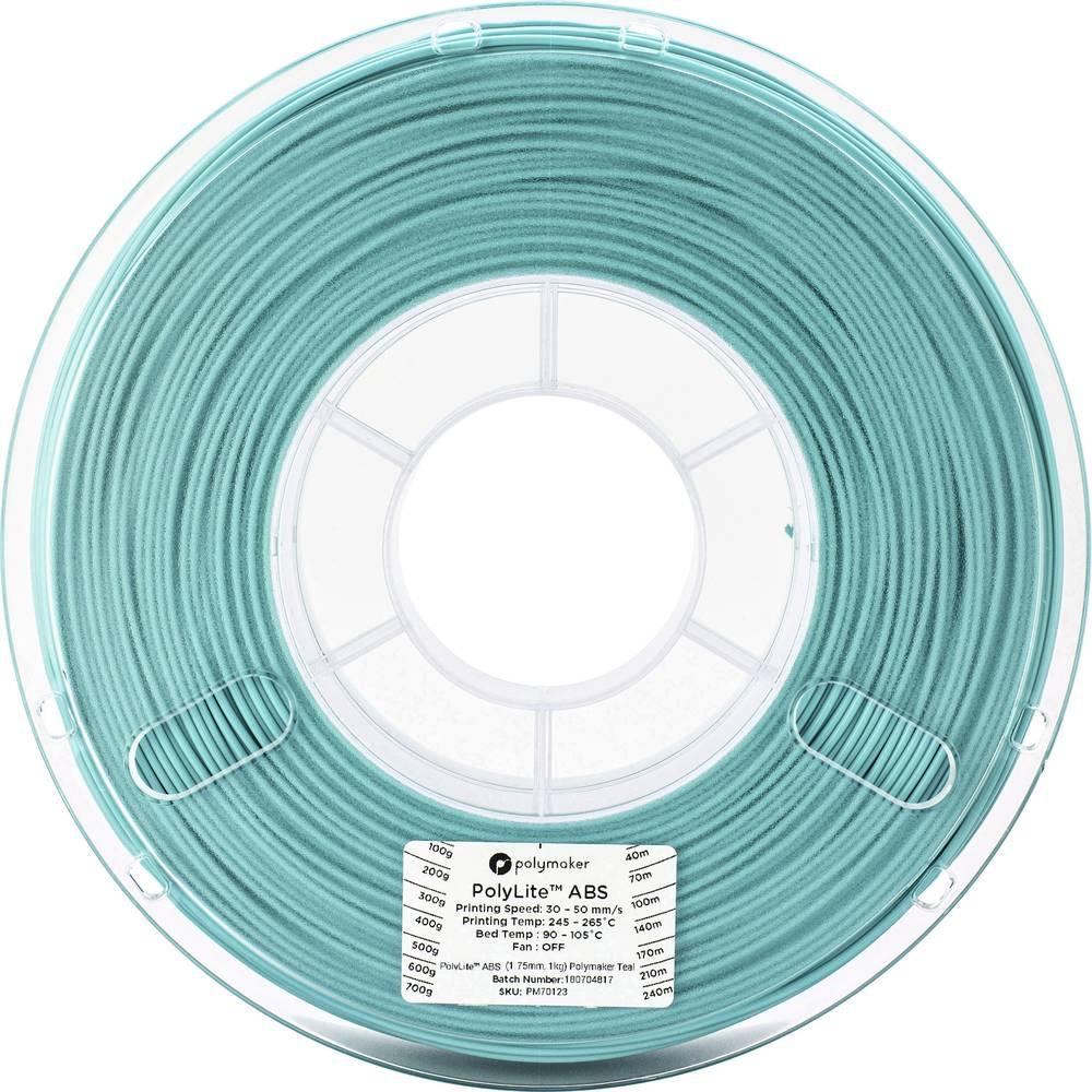 Polymaker 70124 3D-skrivare Filament ABS-plast 2.85 mm 1 kg Blågrön PolyLite 1 st