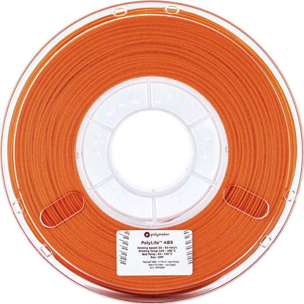 Polymaker 70069 3D-skrivare Filament ABS-plast 1.75 mm 1 kg Orange PolyLite 1 st