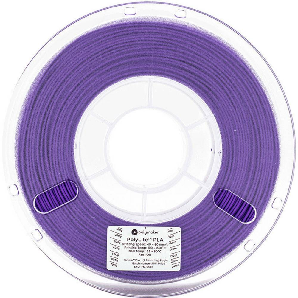 Polymaker 70543 3D-skrivare Filament PLA-plast 1.75 mm 1 kg Violett PolyLite 1 st