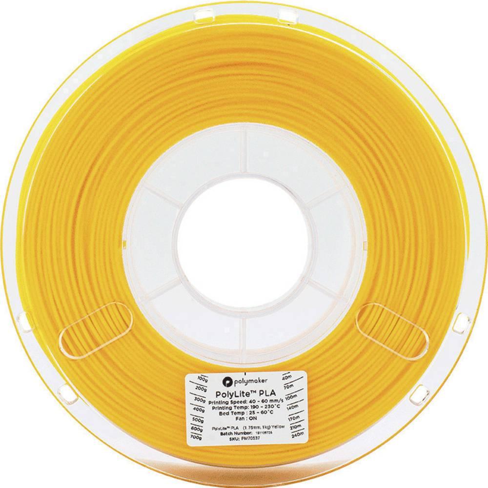 Polymaker 70537 3D-skrivare Filament PLA-plast 1.75 mm 1 kg Gul PolyLite 1 st