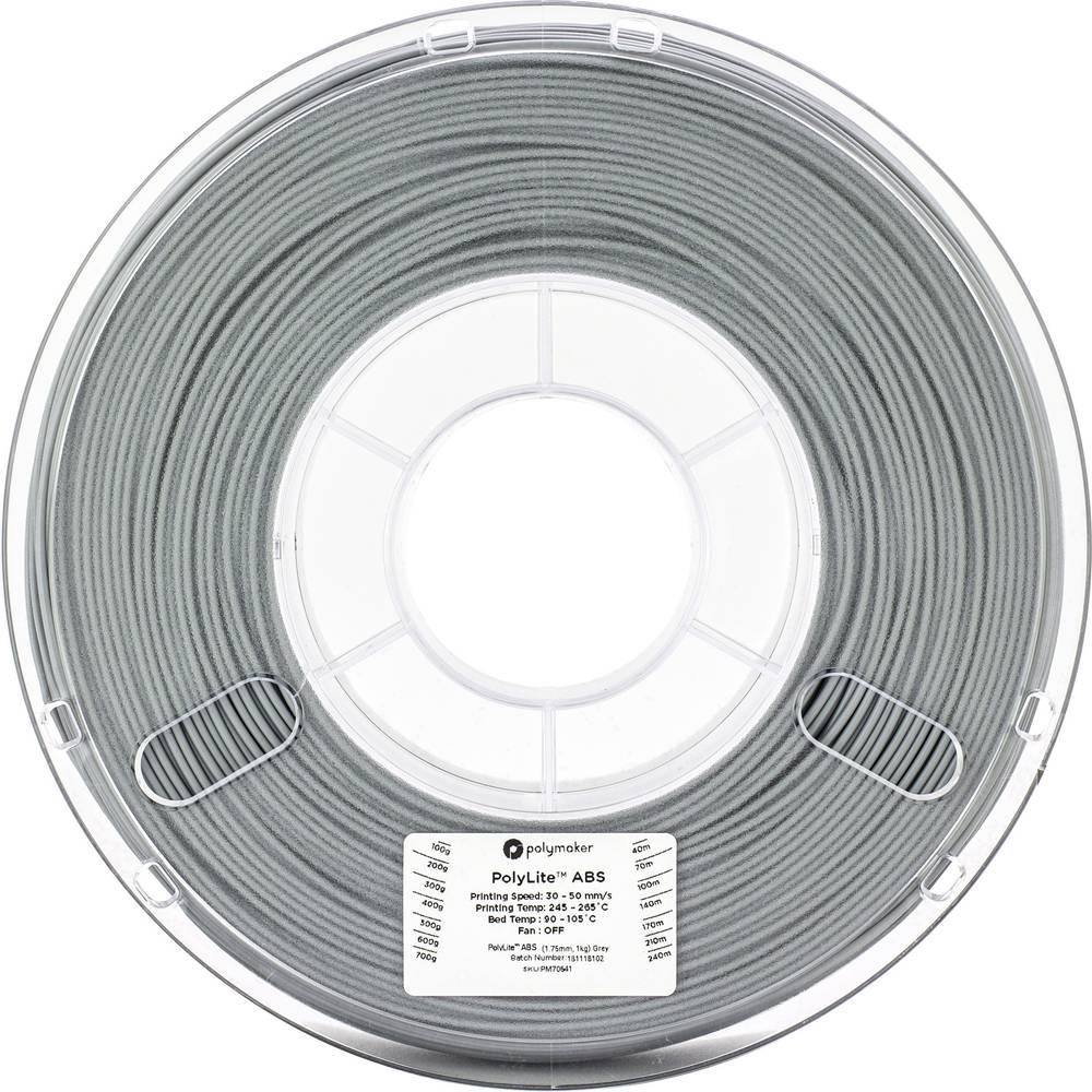 Polymaker 70641 3D-skrivare Filament ABS-plast 1.75 mm 1 kg Grå PolyLite 1 st