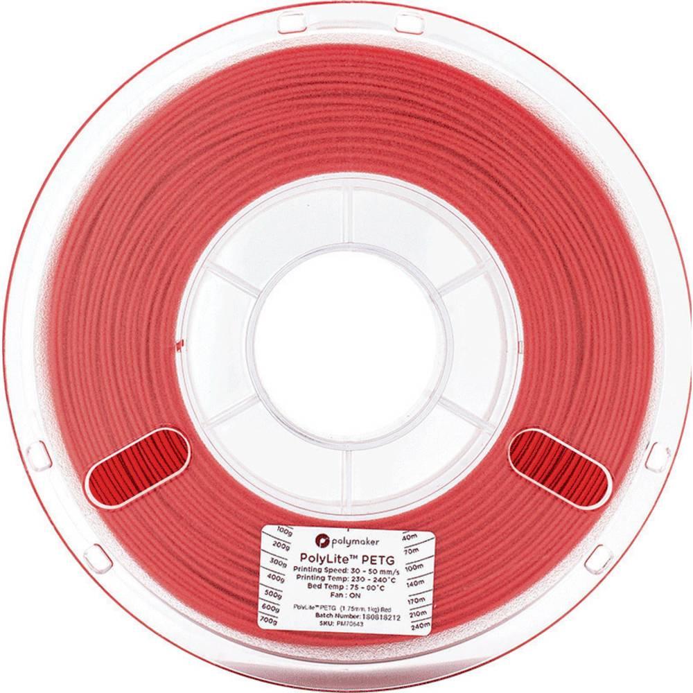 Polymaker 70643 3D-skrivare Filament PETG 1.75 mm 1 kg Röd PolyLite 1 st