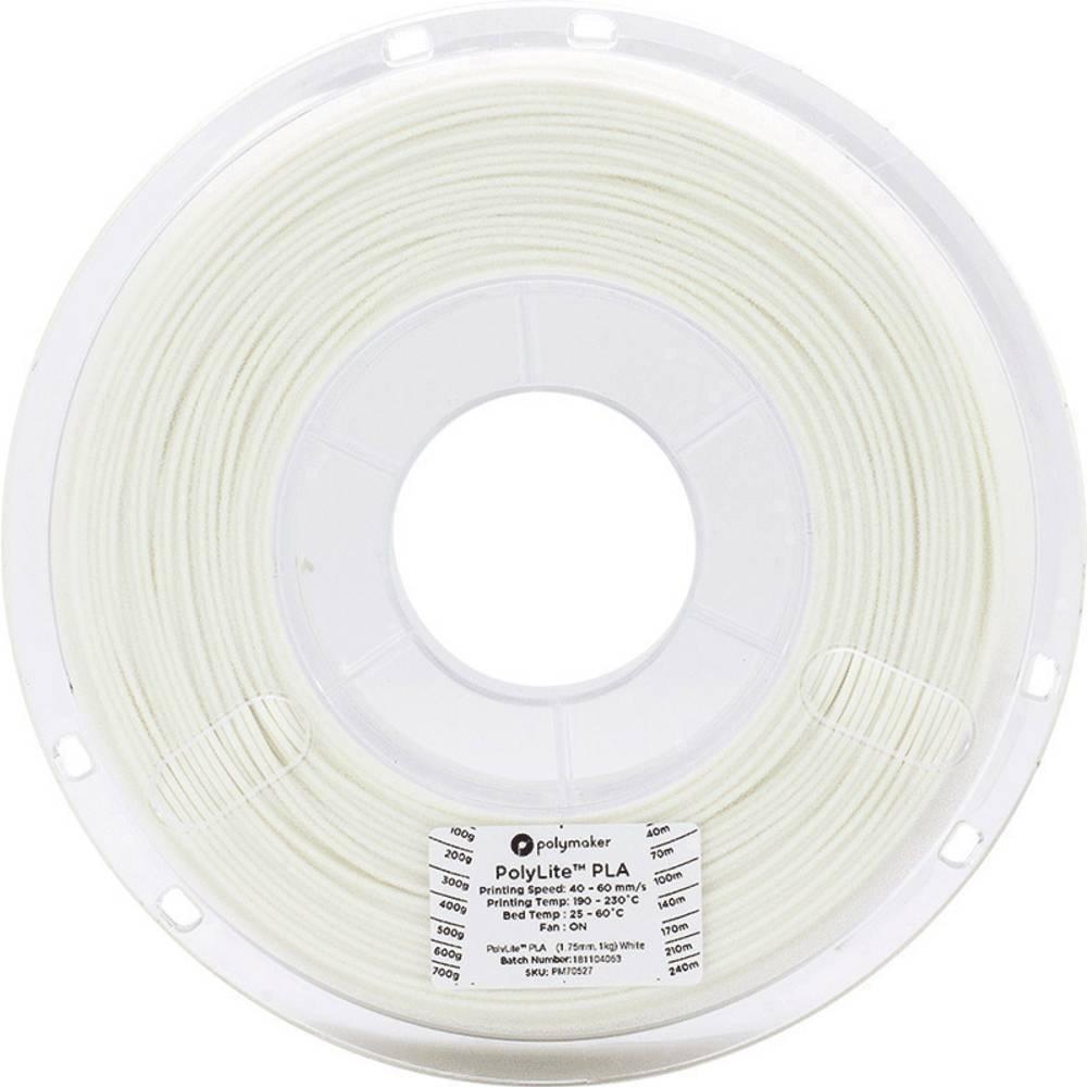Polymaker 70593 3D-skrivare Filament PLA-plast 1.75 mm 3 kg Vit PolyLite 1 st