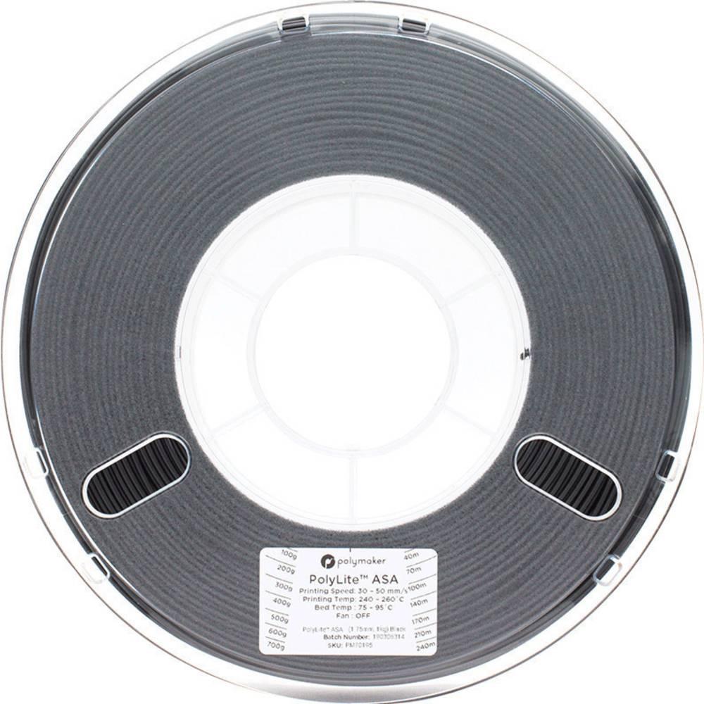 Polymaker 70195 3D-skrivare Filament ASA 1.75 mm 1 kg Svart PolyLite™ 1 st