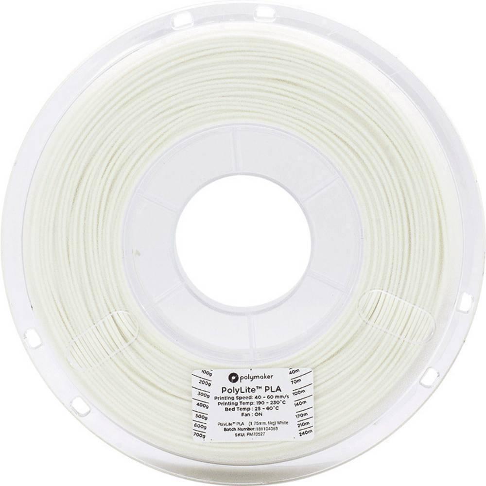 Polymaker 70594 3D-skrivare Filament PLA-plast 2.85 mm 3 kg Vit PolyLite 1 st