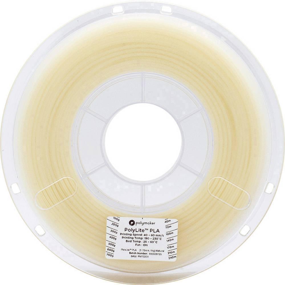 Polymaker 70201 3D-skrivare Filament PLA-plast 1.75 mm 1 kg Natur PolyLite 1 st