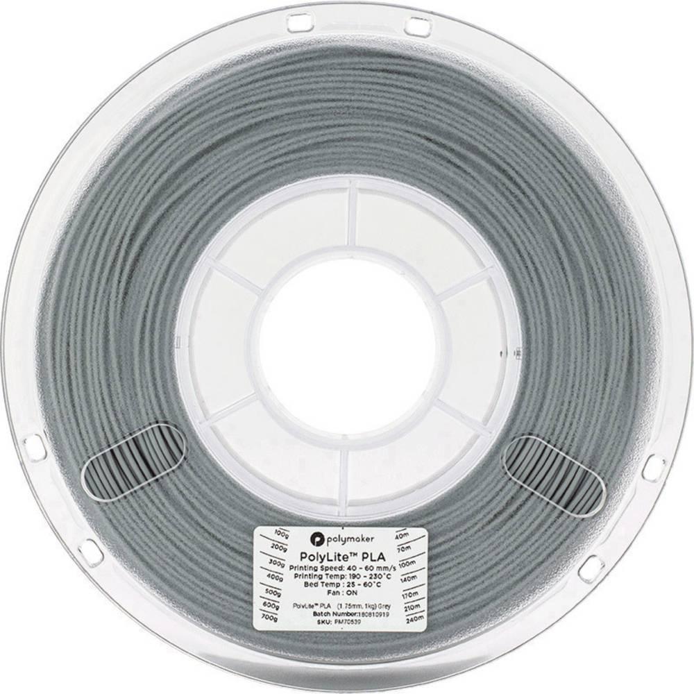 Polymaker 70539 3D-skrivare Filament PLA-plast 1.75 mm 1 kg Grå PolyLite 1 st