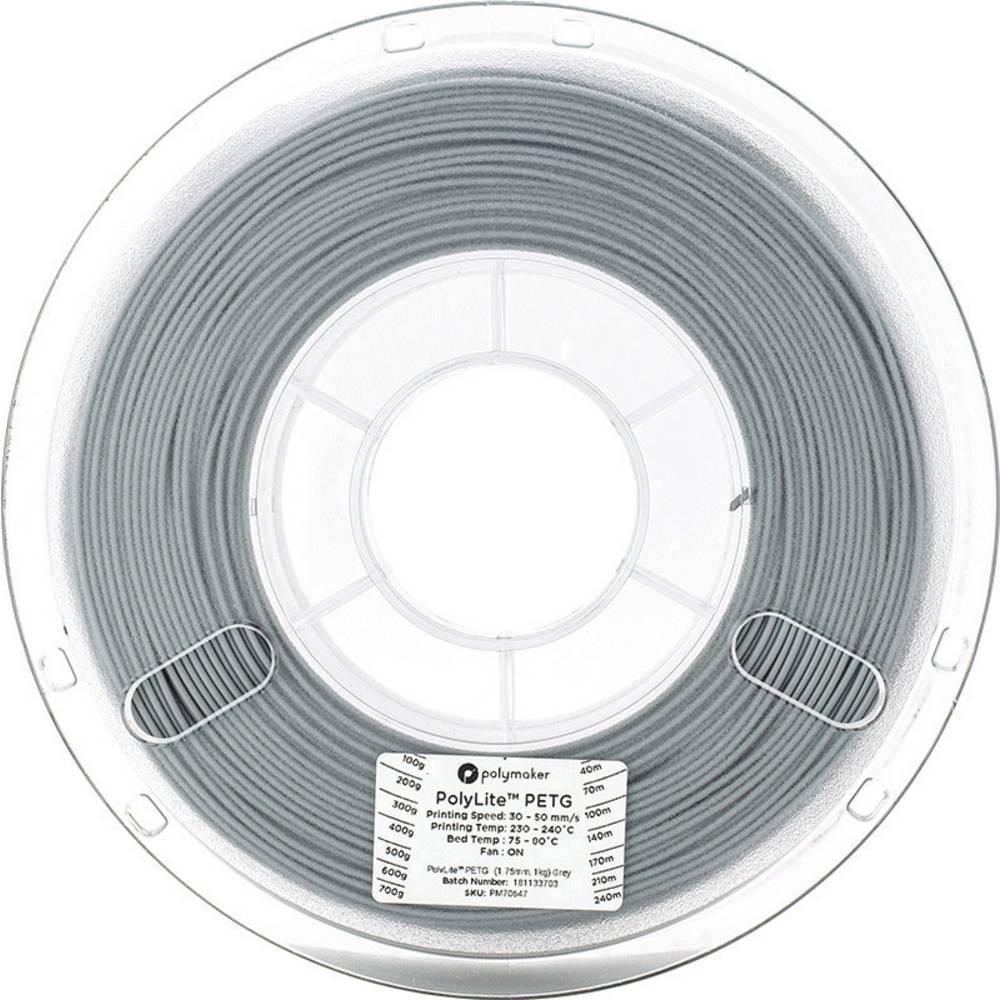 Polymaker 70647 3D-skrivare Filament PETG 1.75 mm 1 kg Grå PolyLite 1 st
