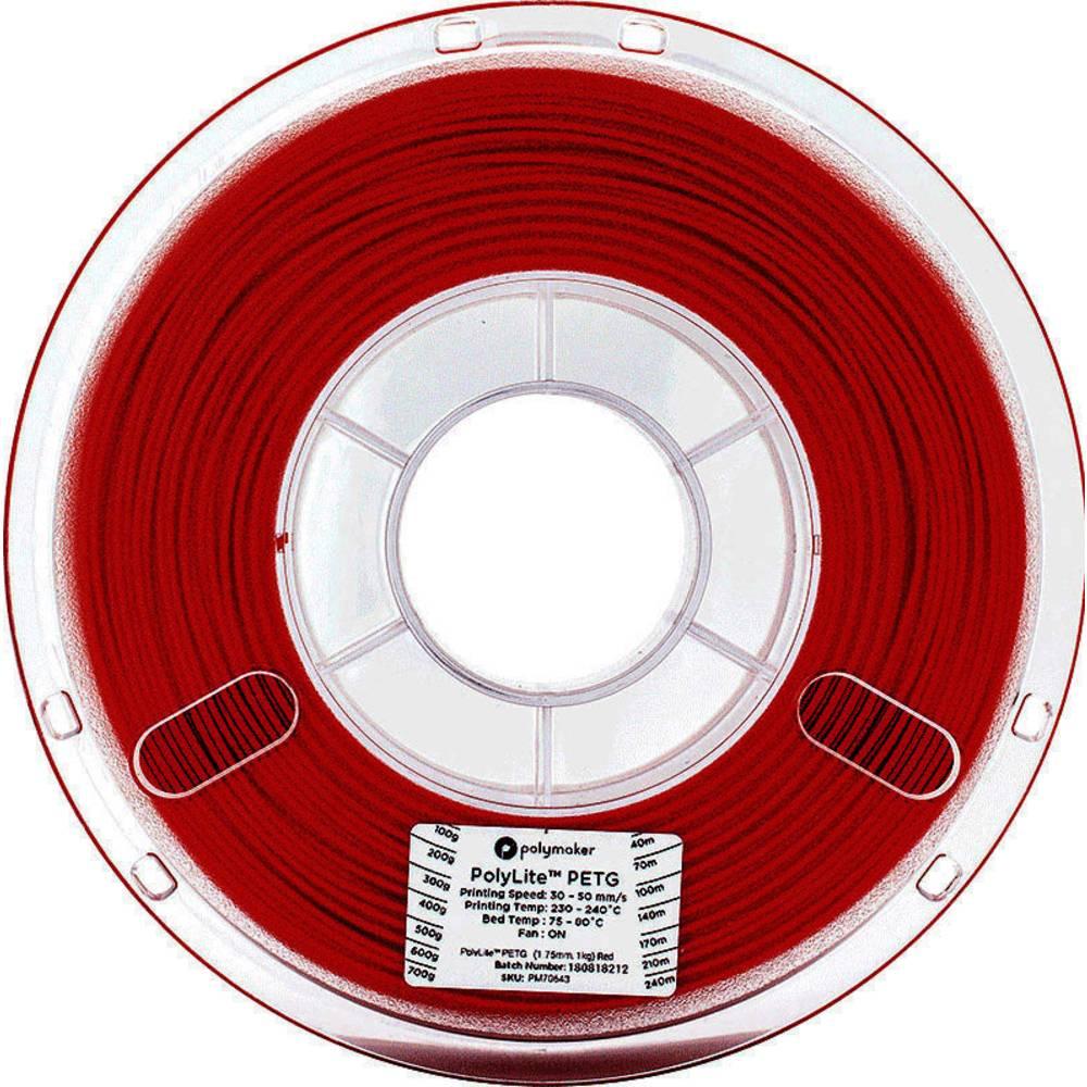 Polymaker 70644 3D-skrivare Filament PETG 2.85 mm 1 kg Röd PolyLite 1 st
