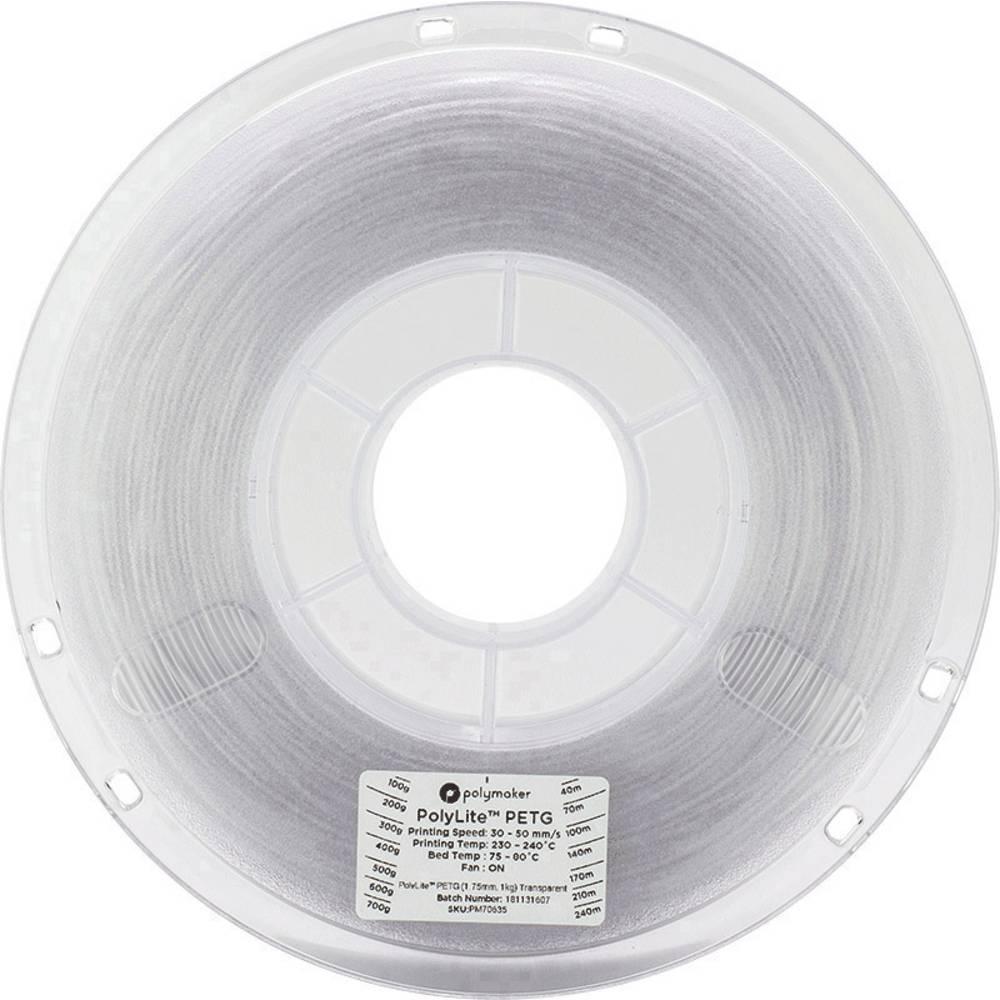 Polymaker 70635 3D-skrivare Filament PETG 1.75 mm 1 kg Transparent PolyLite 1 st