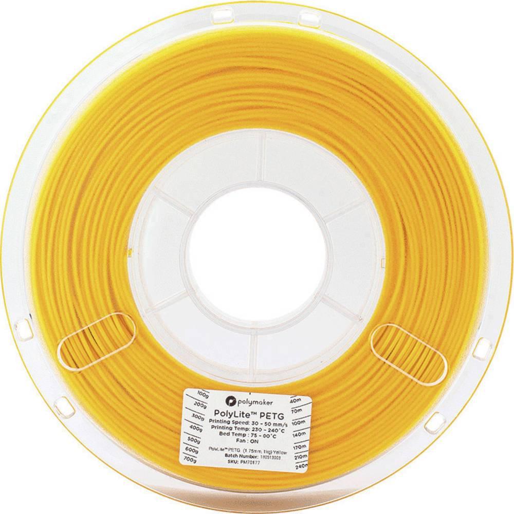 Polymaker 70177 3D-skrivare Filament PETG 1.75 mm 1 kg Gul PolyLite 1 st