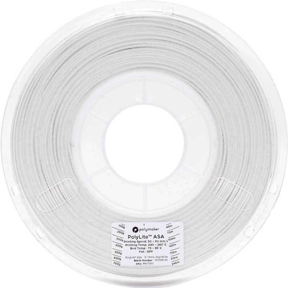 Polymaker 70197 3D-skrivare Filament ASA 1.75 mm 1 kg Vit PolyLite™ 1 st