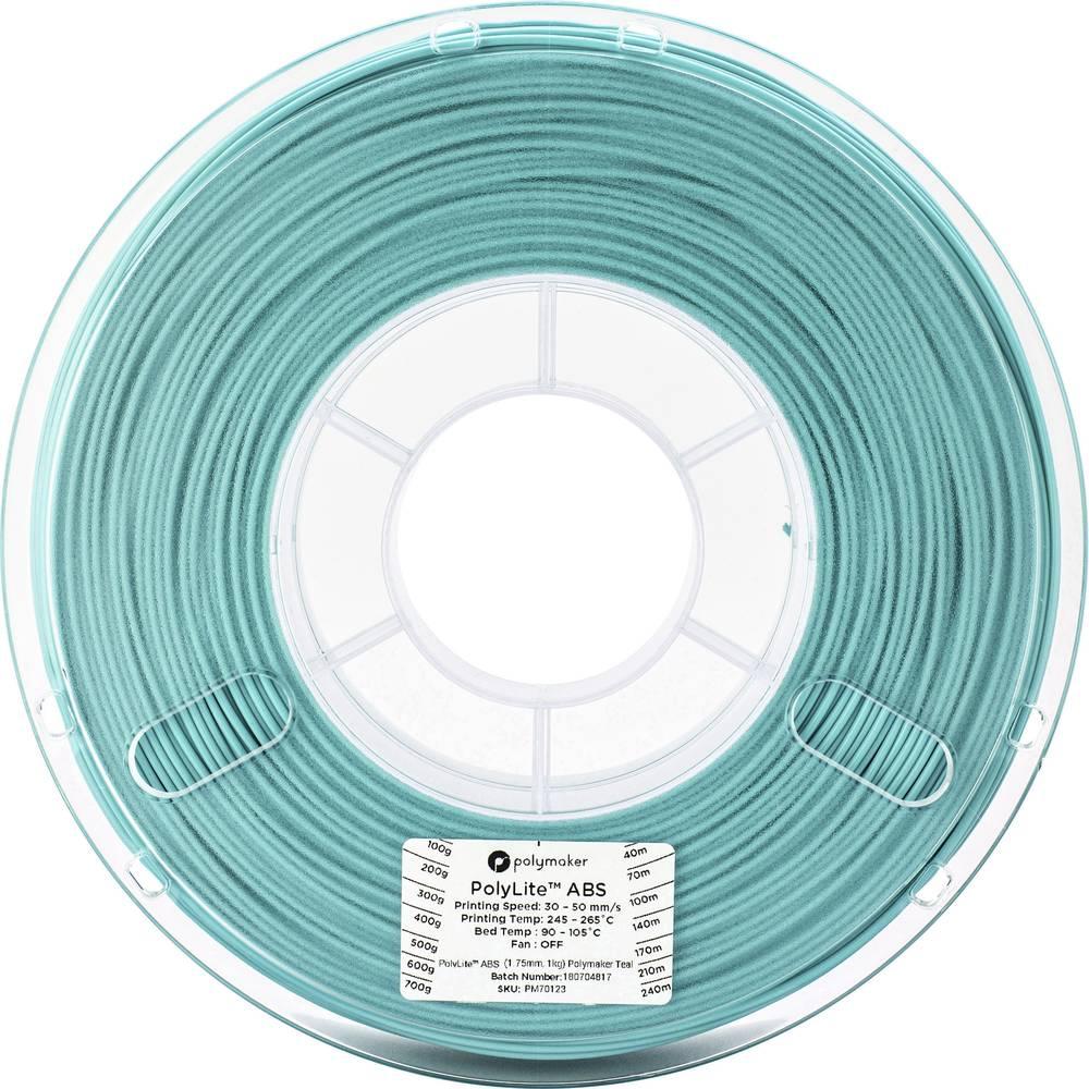 Polymaker 70123 3D-skrivare Filament ABS-plast 1.75 mm 1 kg Blågrön PolyLite 1 st