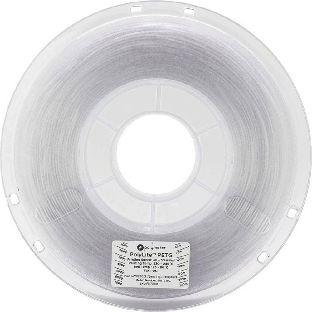 Polymaker 70636 3D-skrivare Filament PETG 2.85 mm 1 kg Transparent PolyLite 1 st